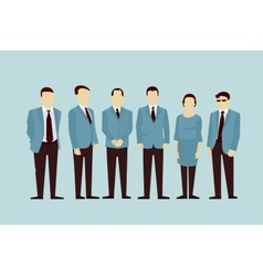 Concept of Group People flat avatars vector image