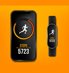 creative of fitness counter vector image