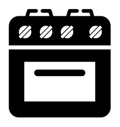 culinary oven icon simple style vector image