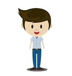 cute cartoon of young people in stylish casual vector image