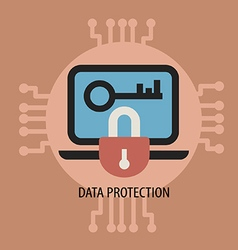 Data encryption and protection vector image