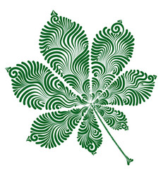 Decorative chestnut leaf vector