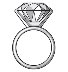 Diamond ring - ring with diamond vector image