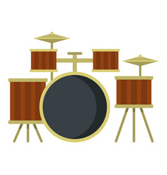 Drum setting icon isolated vector