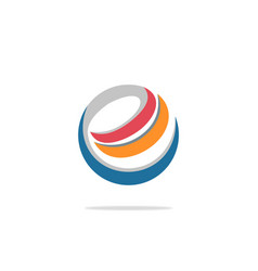 e internet technology circle logo vector image