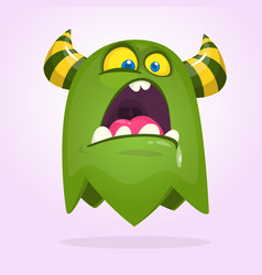 ector halloween green monster vector image