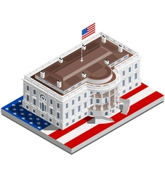 Election Infographic Usa White House Isometric vector