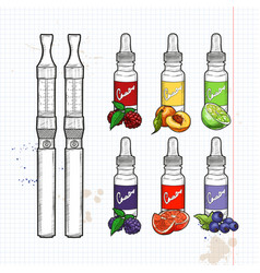 electronic cigarette vector image