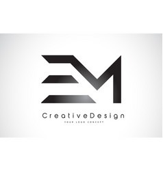 Em e m letter logo design creative icon modern vector