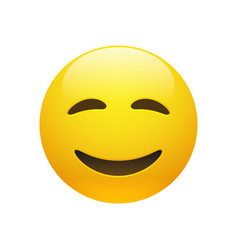 emoji yellow smiley face vector image