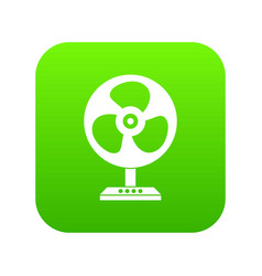 fan icon digital green vector image