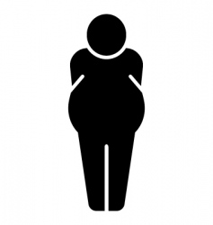 fat man icon vector image vector image