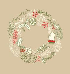 Filigree foliated wreath design concept vector