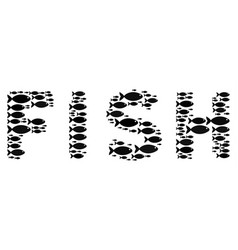 Fish fish word concept vector