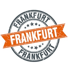 Frankfurt red round grunge vintage ribbon stamp vector