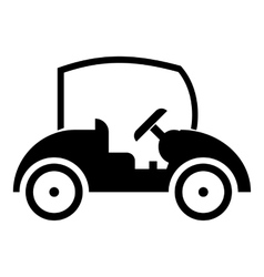 Golf car icon simple style vector