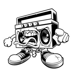 Graffiti boombox character vector
