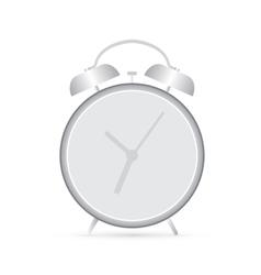 Gray clock alarm vector