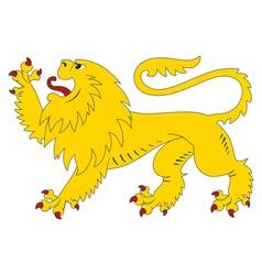 Heraldic lion 28 vector image
