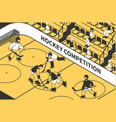 hockey competition isometric vector image