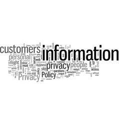 How to write a privacy policy vector