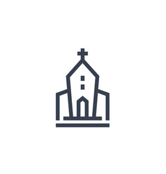hurch icon in linear style vector image