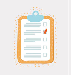 line icon of checklist with mark vector image
