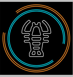 lobster symbol - crawfish seafood vector image