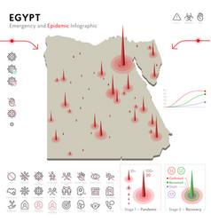 Map egypt epidemic and quarantine emergency vector