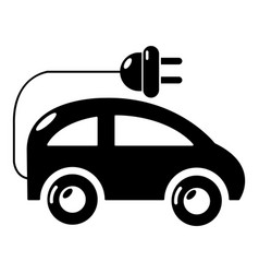 Modern electric car icon simple style vector