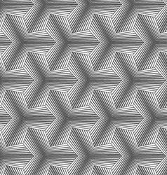 Monochrome gradually striped pointy tetrapods vector