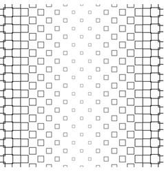Monochrome square pattern - background vector