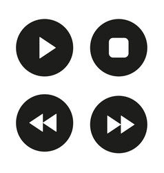 Music player navigation icons set vector