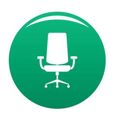 New armchair icon green vector