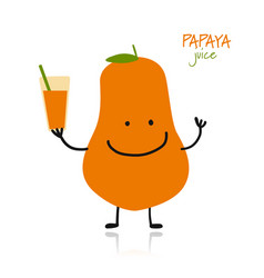 Papaya cute character for your design vector