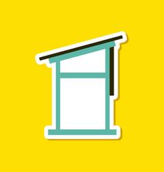 paper sticker on stylish background desk vector image
