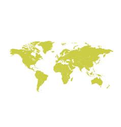 political world map cartoon vector image