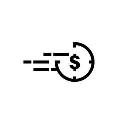 quick cash dollar icon graphic design template vector image