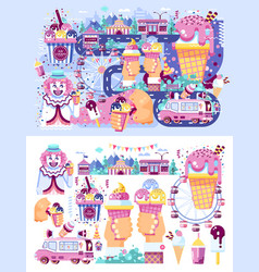 Set business selling different vector
