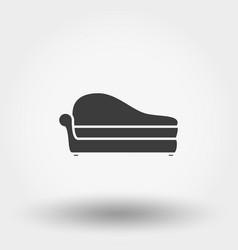 soft sofa icon vector image