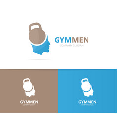 sport and man logo combination gym and vector image
