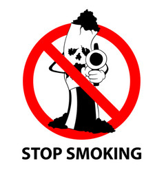 stop smoking no tobacco day prohibition sign vector image