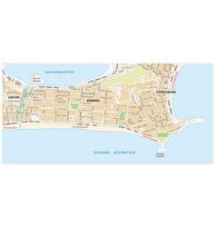 Street map ipanema rio de janeiro vector
