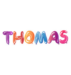 thomas male name vector image
