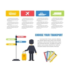 Transport infographic set vector image