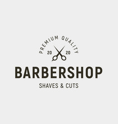 vintage barbershop logo retro styled hair salon vector image