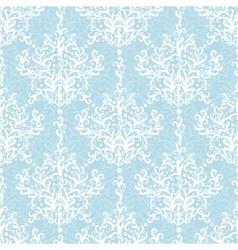 Vintage Light Blue Branches Damask Seamless vector