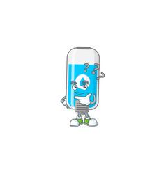 Wall hand sanitizer mascot design concept having vector
