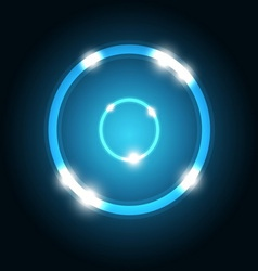 Abstract background with blue circle vector image vector image
