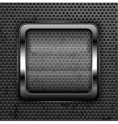 glass frame metallic background 10 vector image vector image